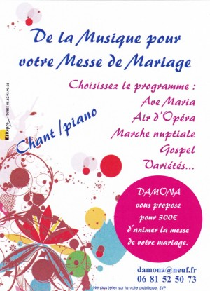 Animation Messes Mariages DAMONA