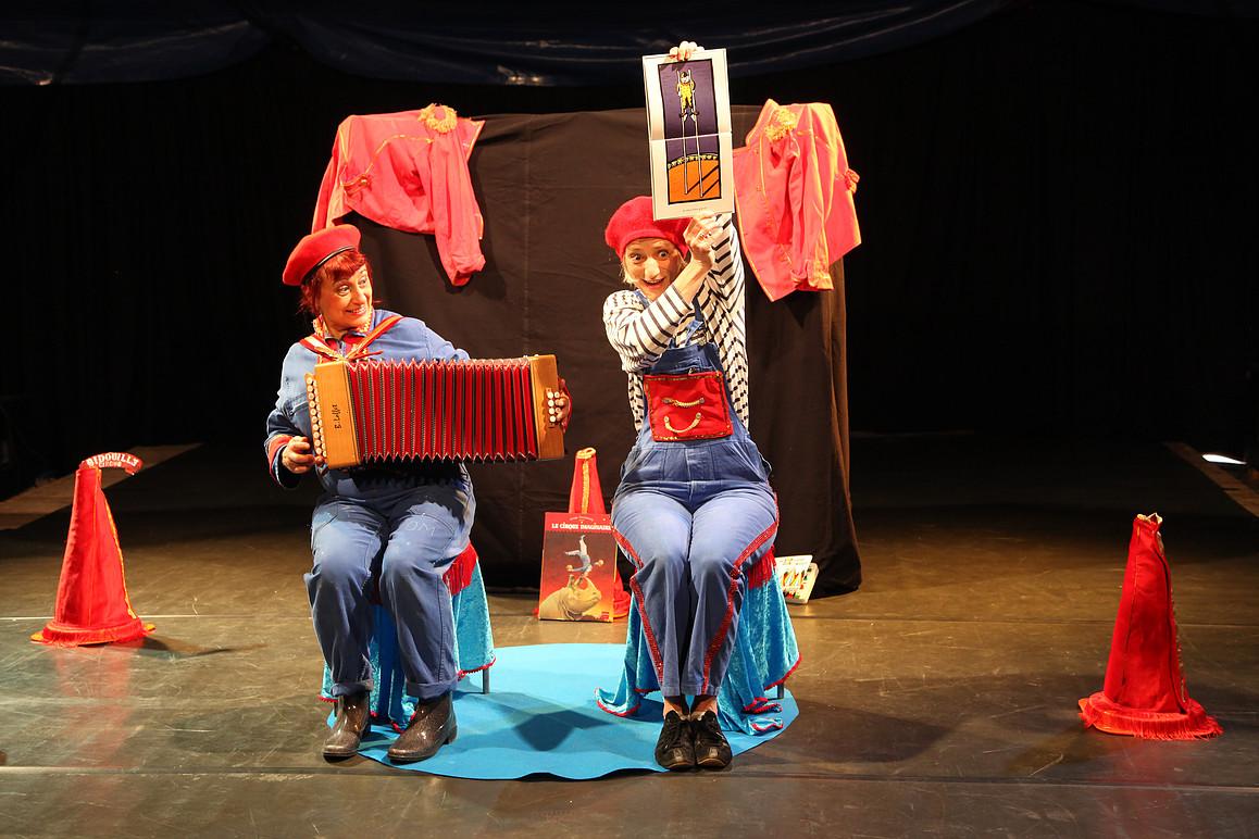 papotaage de cirque pour de scène en scène