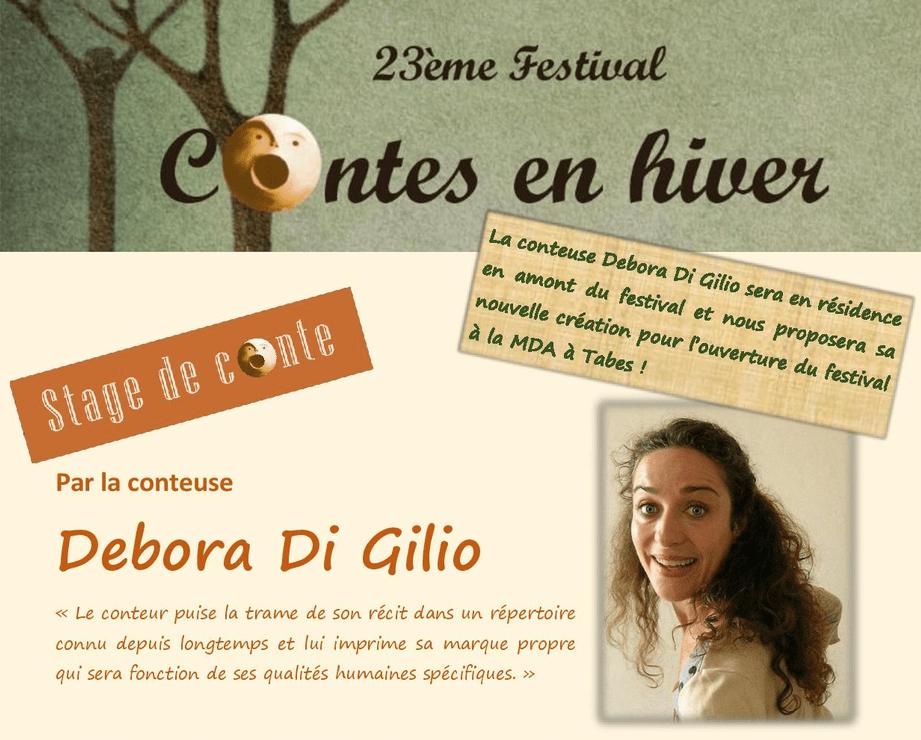 Stage de conte avec Debora Di Gilio
