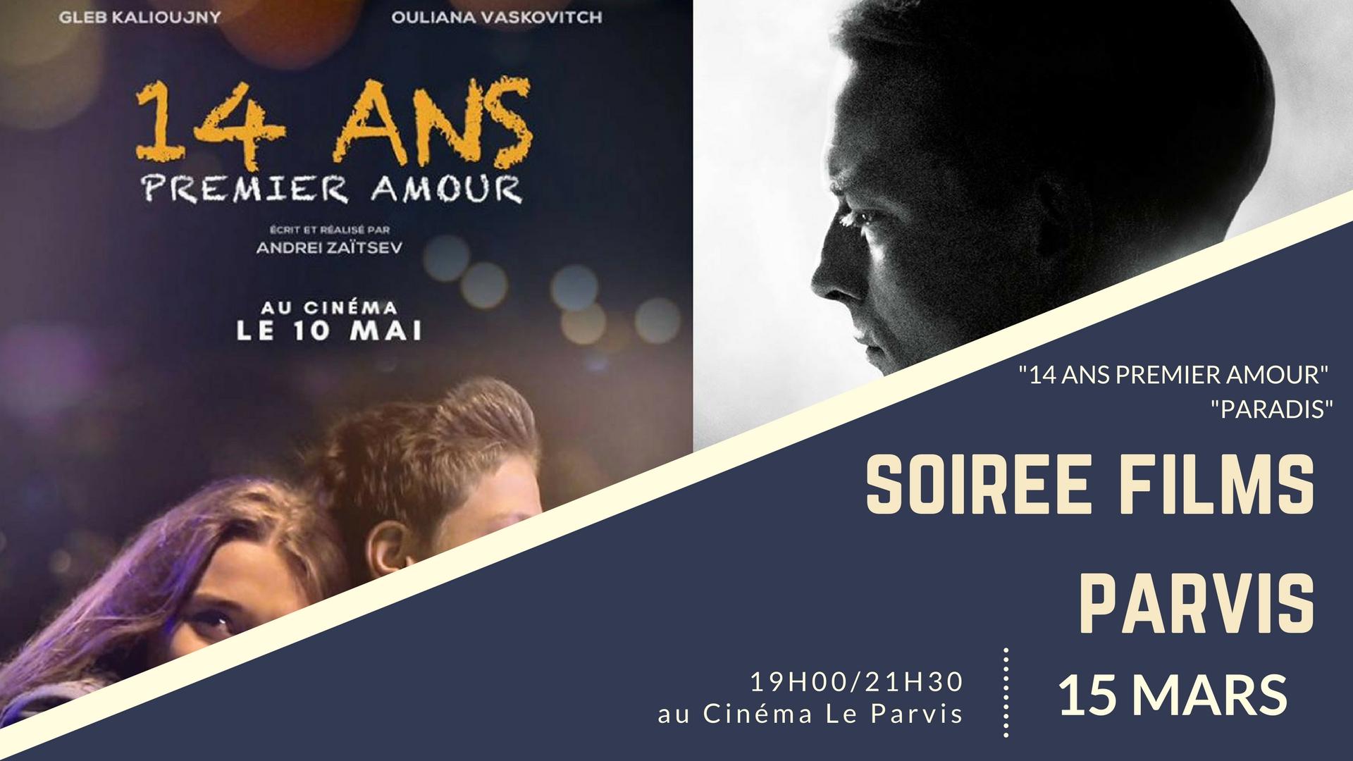 """Projection des films """"14 ans, premier amour"""" et """"Paradis"""""""