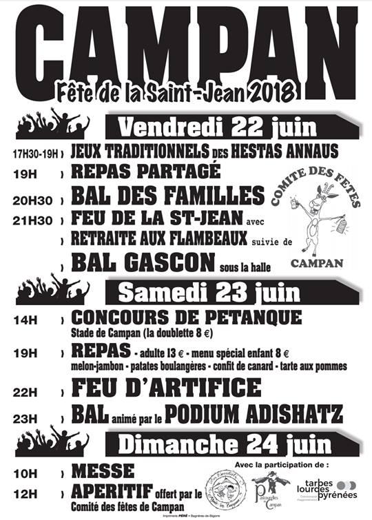 Fêtes de la St Jean à Campan