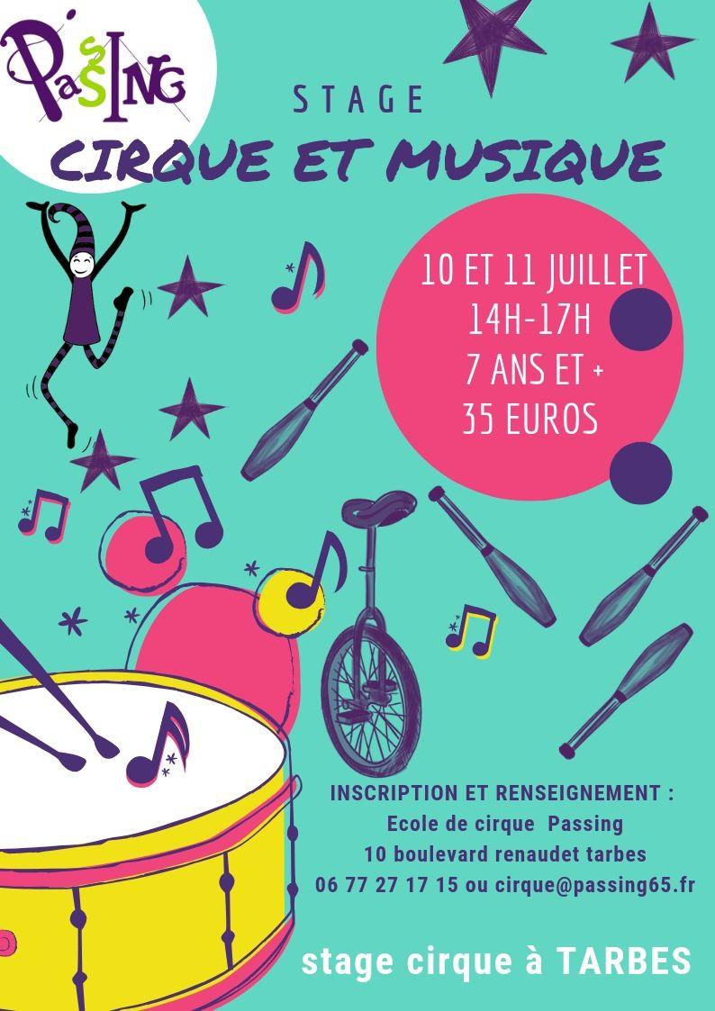 Stage cirque et musique