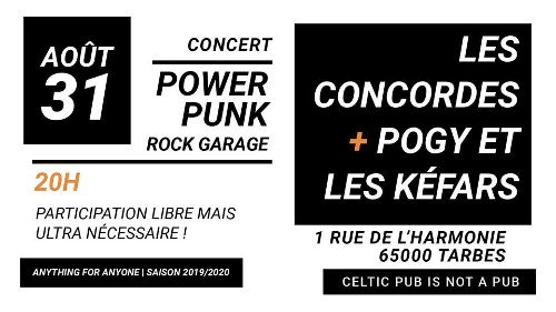 Les Concordes + Pogy et les Kéfars