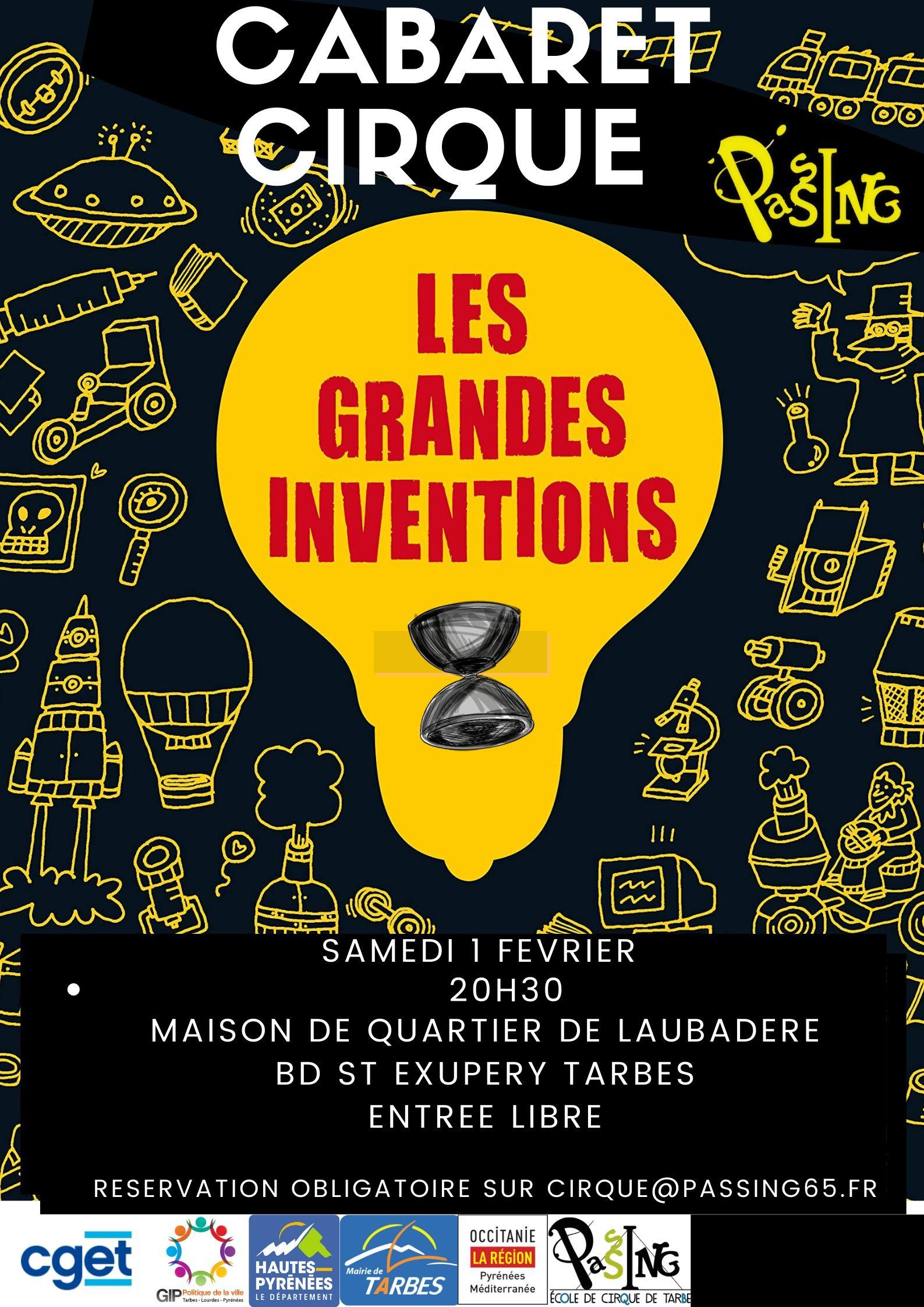 Cabaret Cirque : Les Grandes inventions.