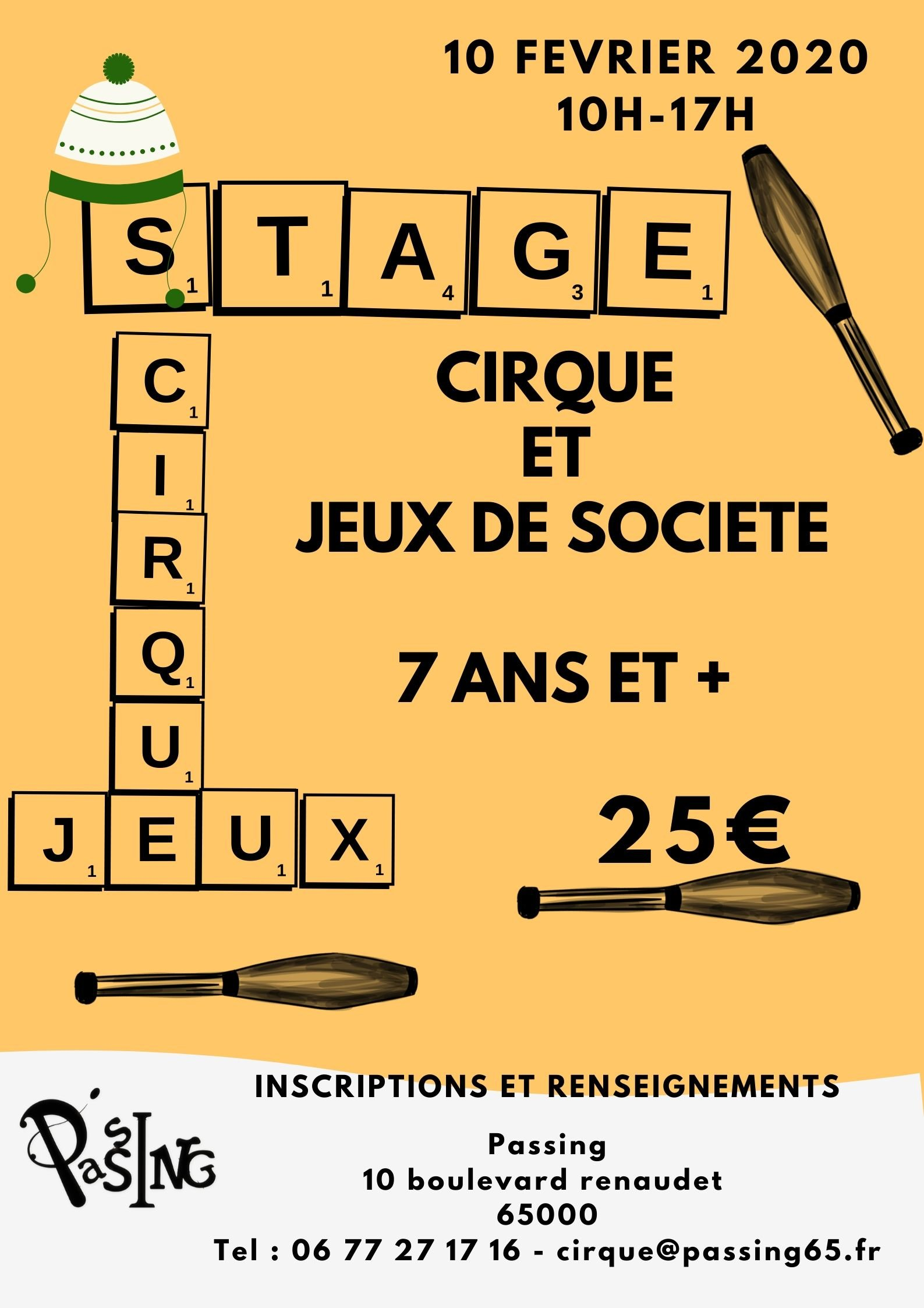 Stages cirque n°1