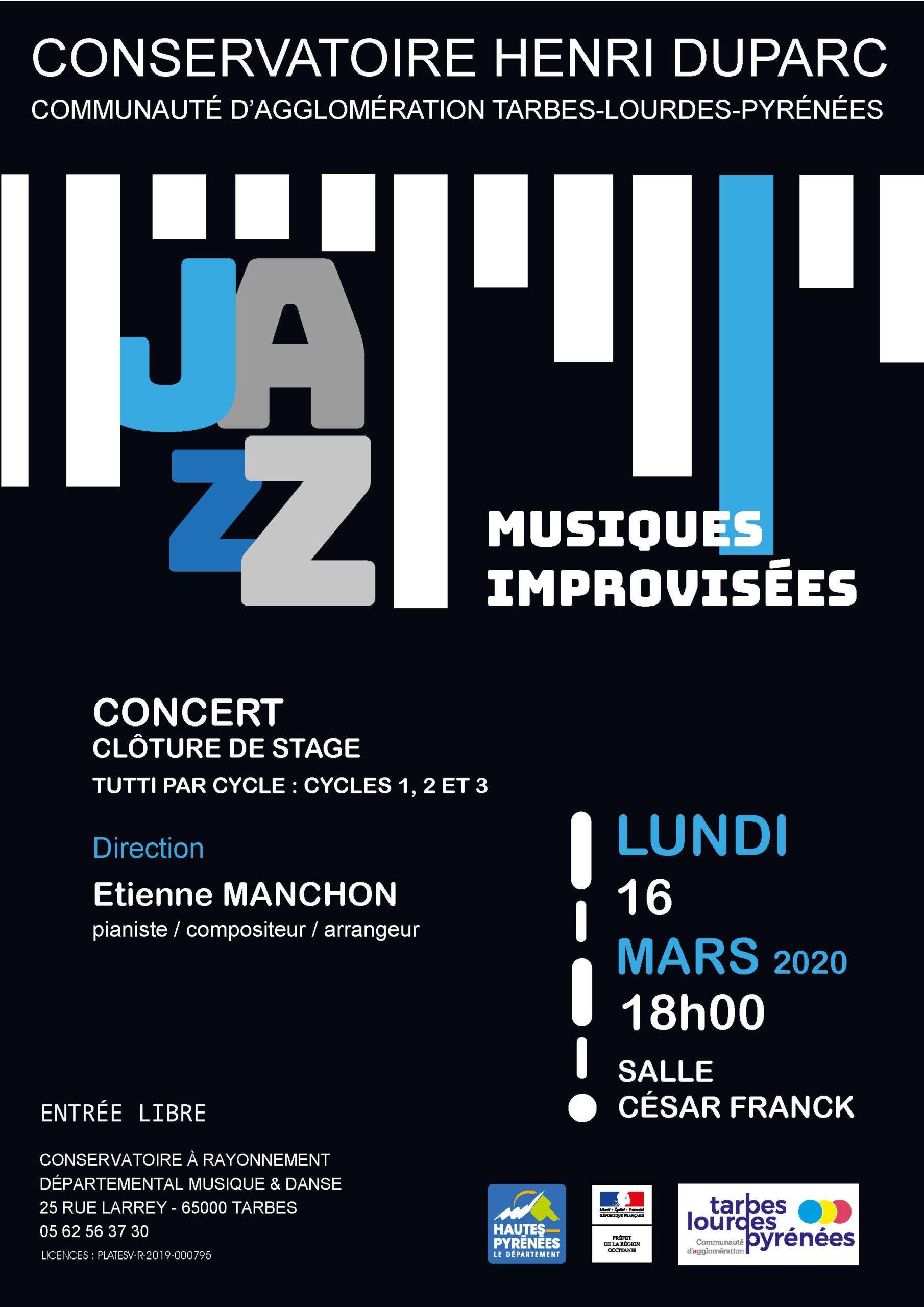 ÉVÉNEMENT ANNULÉ : Concert: Jazz et Musiques Improvisées