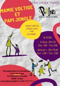 Stage cirque Pâques: deuxieme semaine