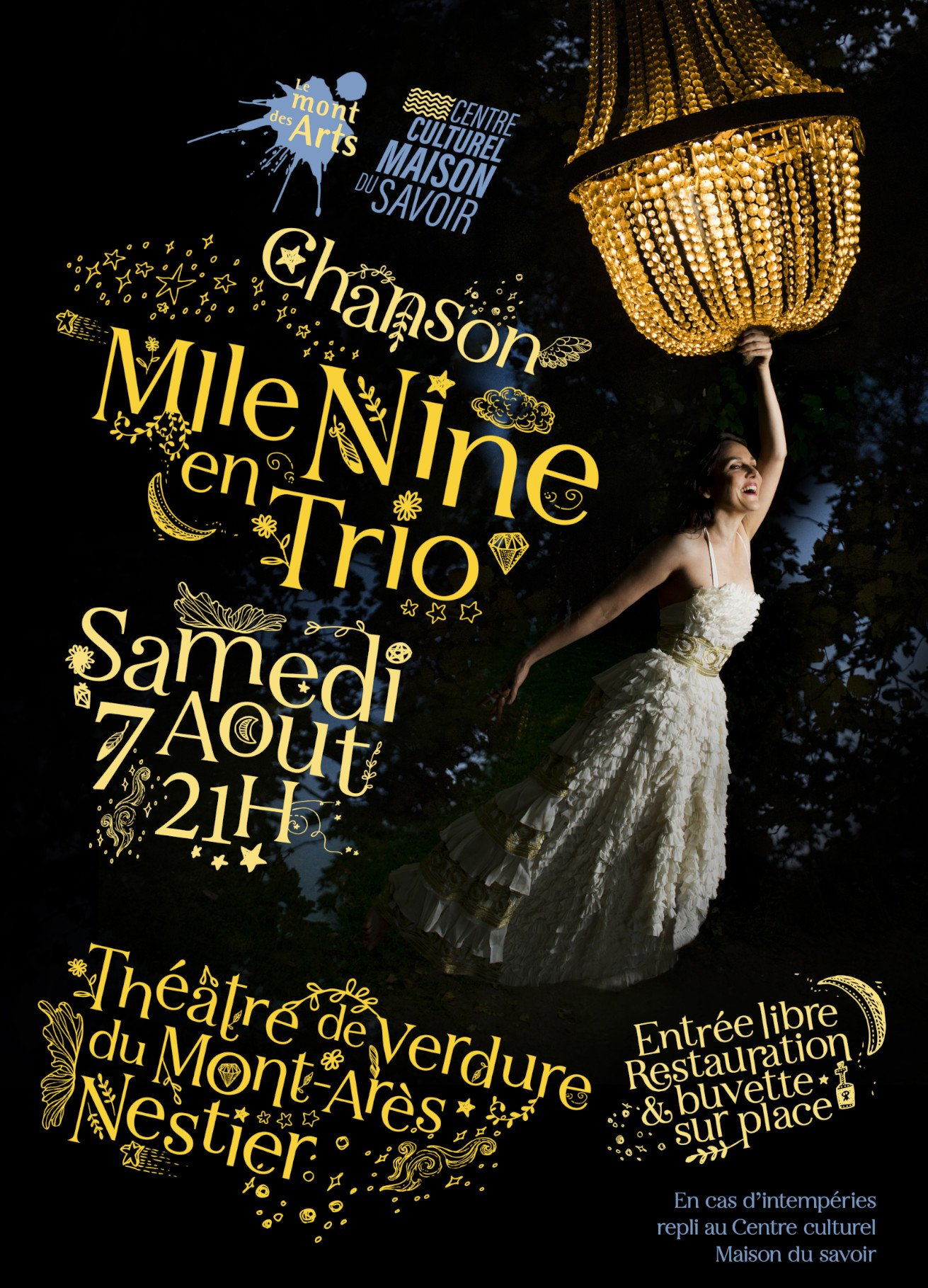ANNULATION : Mlle Nine en Trio | Chanson